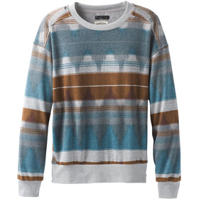 Prana Cozy Up Bedrucktes Sweatshirt Damen blue note eldorado